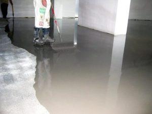 Цементный наливной пол